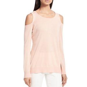 Calvin Klein Women's Blush Cold Shoulder Sweater